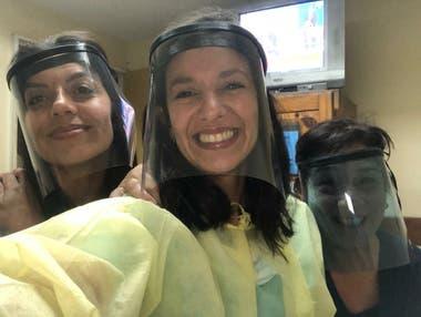 Evangelina Bomparola destinó fondos a la fabricacion 3D de máscaras protectoras.