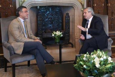El Presidente junto a Daniel Rafecas