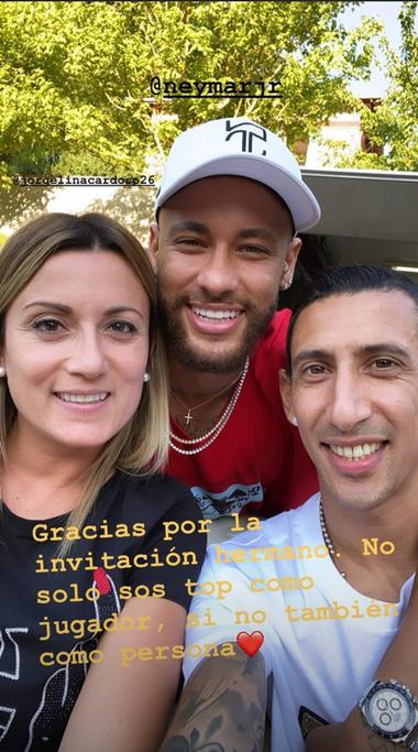 El agradecimiento de Di María a Neymar.