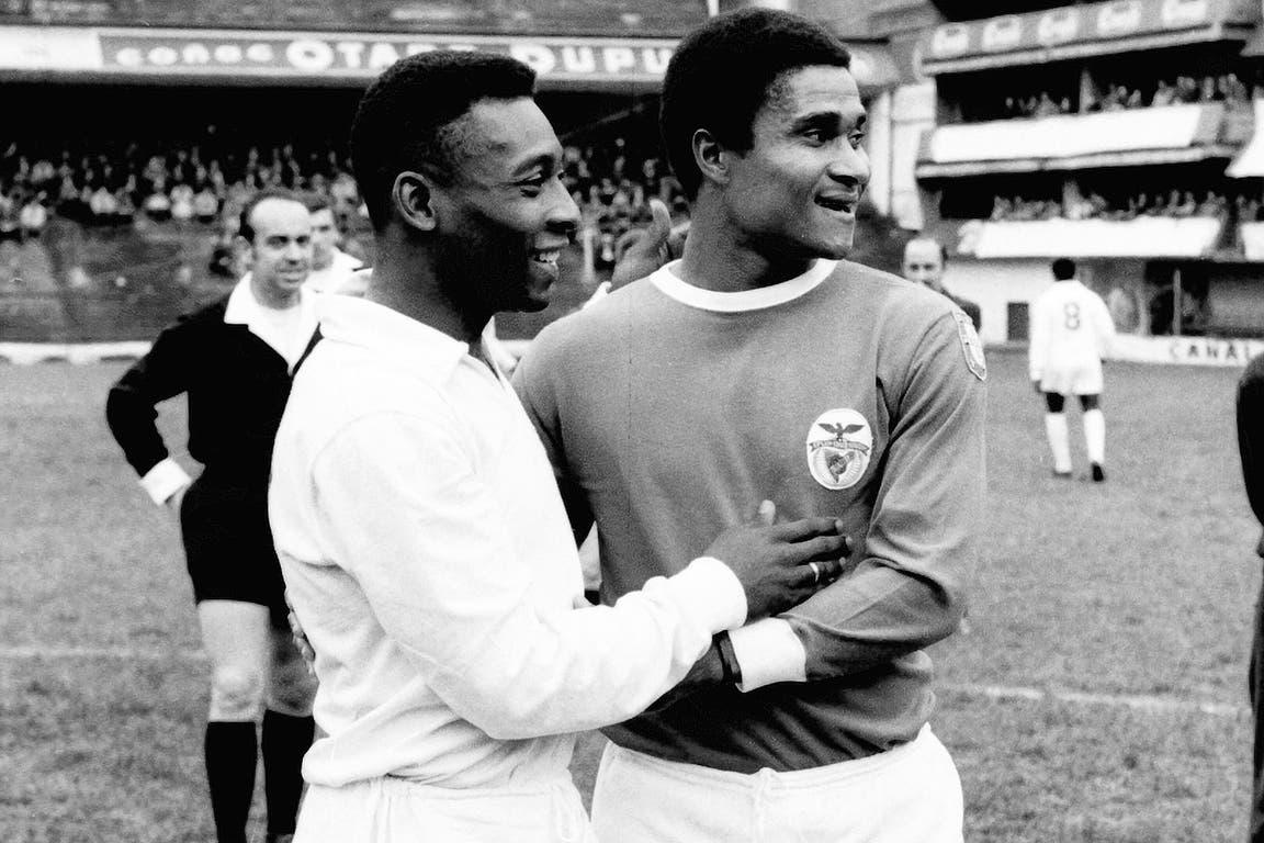 Eusebio (18 de agosto de 1968): Pentagonal internacional con Santos, Benfica, Nacional, River y Boca; el duelo entre brasileños y portugueses, fue para Pelé, que ya era bicampeón mundial (4 a 2); la Pantera de Mozambique (Balón de Oro 1965), había sido goleador del último Mundial, con 9 tantos