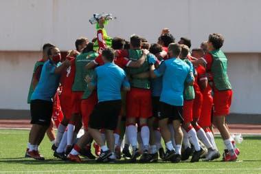 Festeja Gibraltar el estrecho resultado ante San Marino, por la Liga de Naciones.