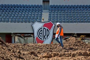 Las obras en el Monumental estarán terminadas a mediados de febrero Fuente: LA NACION - Crédito: Ignacio Sánchez