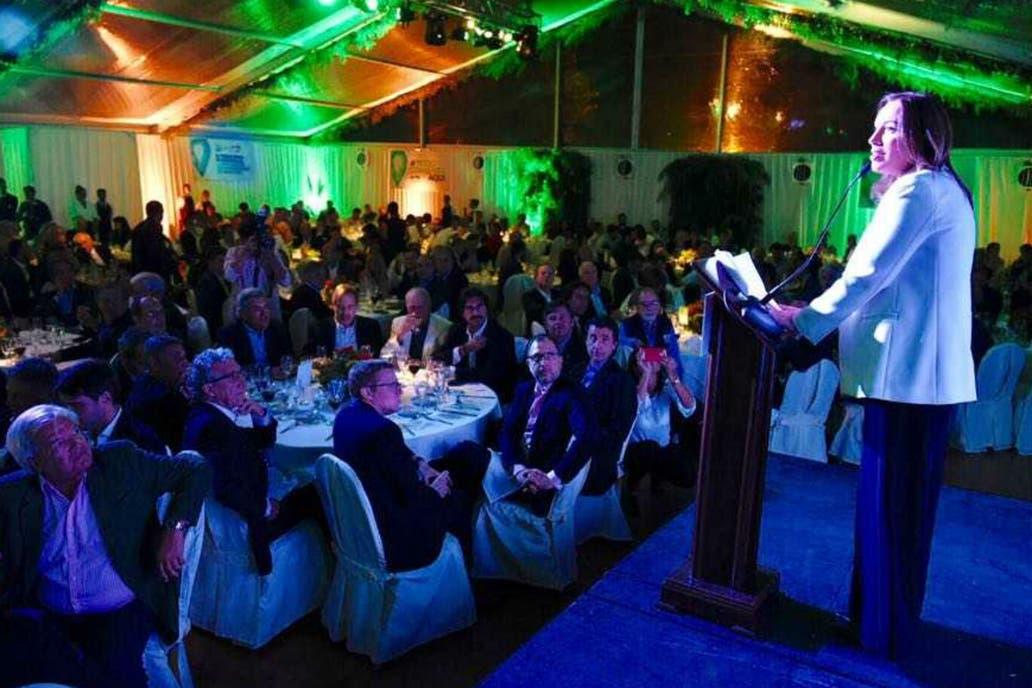Vidal, en la cena de expositores de Expoagro