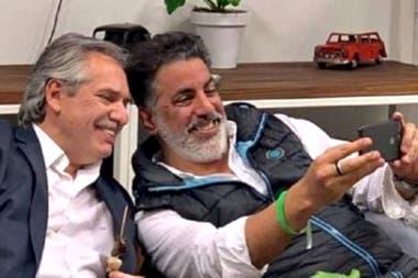 Alberto Fernández y Francisco Meritello