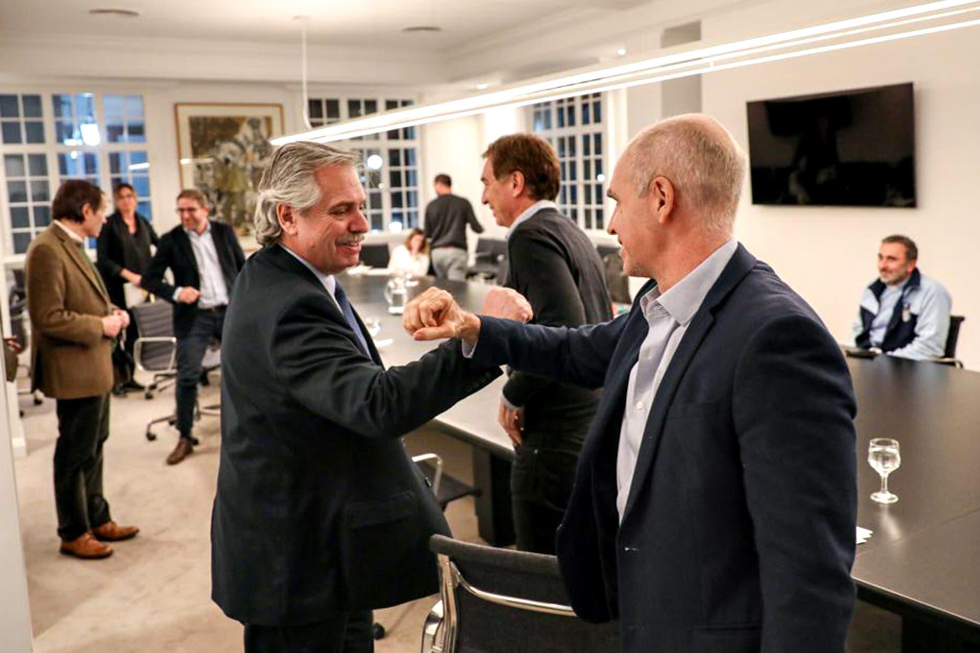 """El Presidente y Rodríguez Larreta están """"satisfechos"""" con los resultados de la cuarentena estricta"""