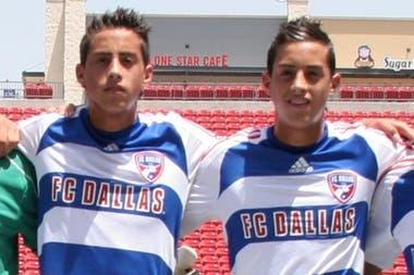 En las inferiores del FC Dallas, cuando vivían en Estados Unidos