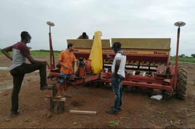 La maquinaria argentina es usada por productores de varios países de África