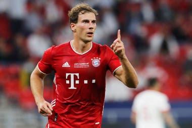 León Goreztka marcó el 1-1 para Bayern Munich