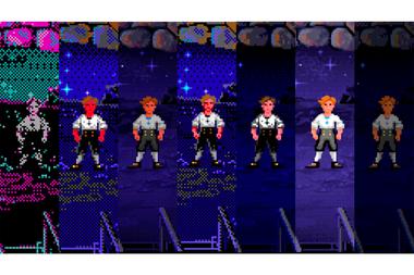 DE CGA A VGA. Guybrush Threepwood en distintas resoluciones