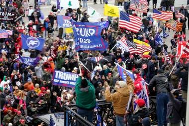Las protestas de partidarios de Trump frente al Congreso