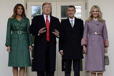 """El presidente Donald Trump y el primer ministro checo, Andrej Babis en 2019. Babis dijo en la Casa Blanca que también quiere """"hacer que la República Checa vuelva a ser grandiosa""""."""