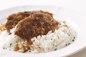Escalopes a la marsala con arroz blanco