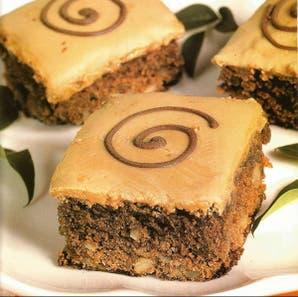 Brownies glaseados para acompañar el café