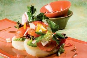 De vegetales y kanikama