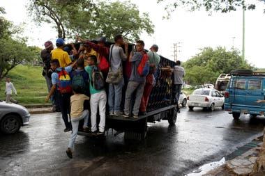 En Venezuela viajan en