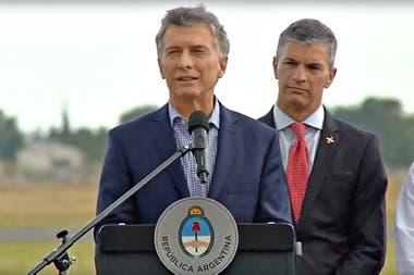 El presidente participó de la presentación de tres aviones Pampa en la planta de Fadea, en Córdoba