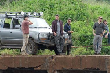 Garrett Hedlund en el rodaje de Triple frontera junto Ben Affleck, Oscar Isaac, Pedro Pascal y Charlie Hunnam
