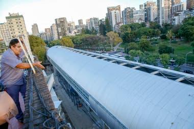 Los vecinos del edificio ubicado en Echeverra esquina Montaeses fueron perjudicados con las obras del Mitre