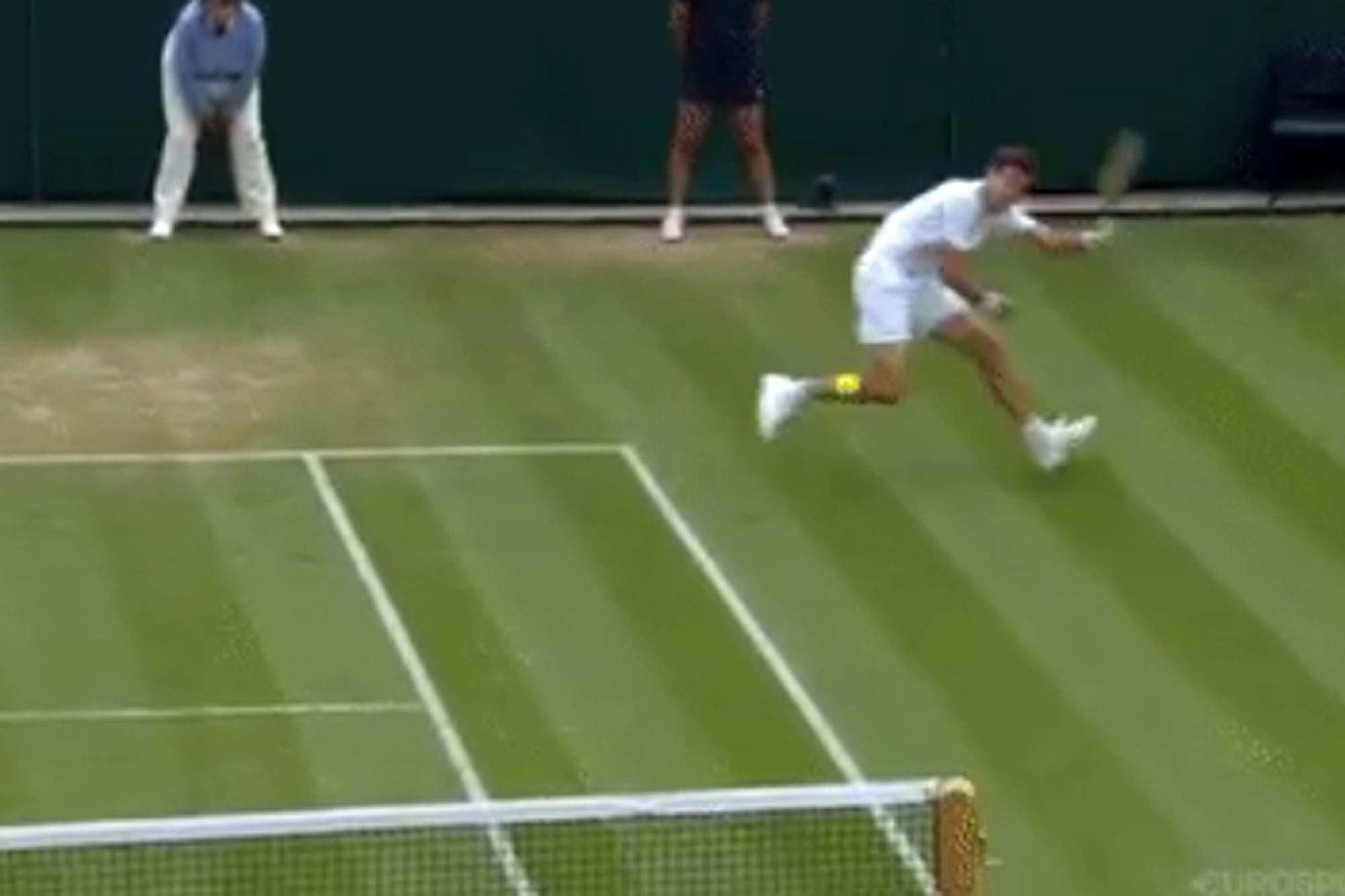 Wimbledon. La jugada del día: el espectacular punto de Pella en el quinto set