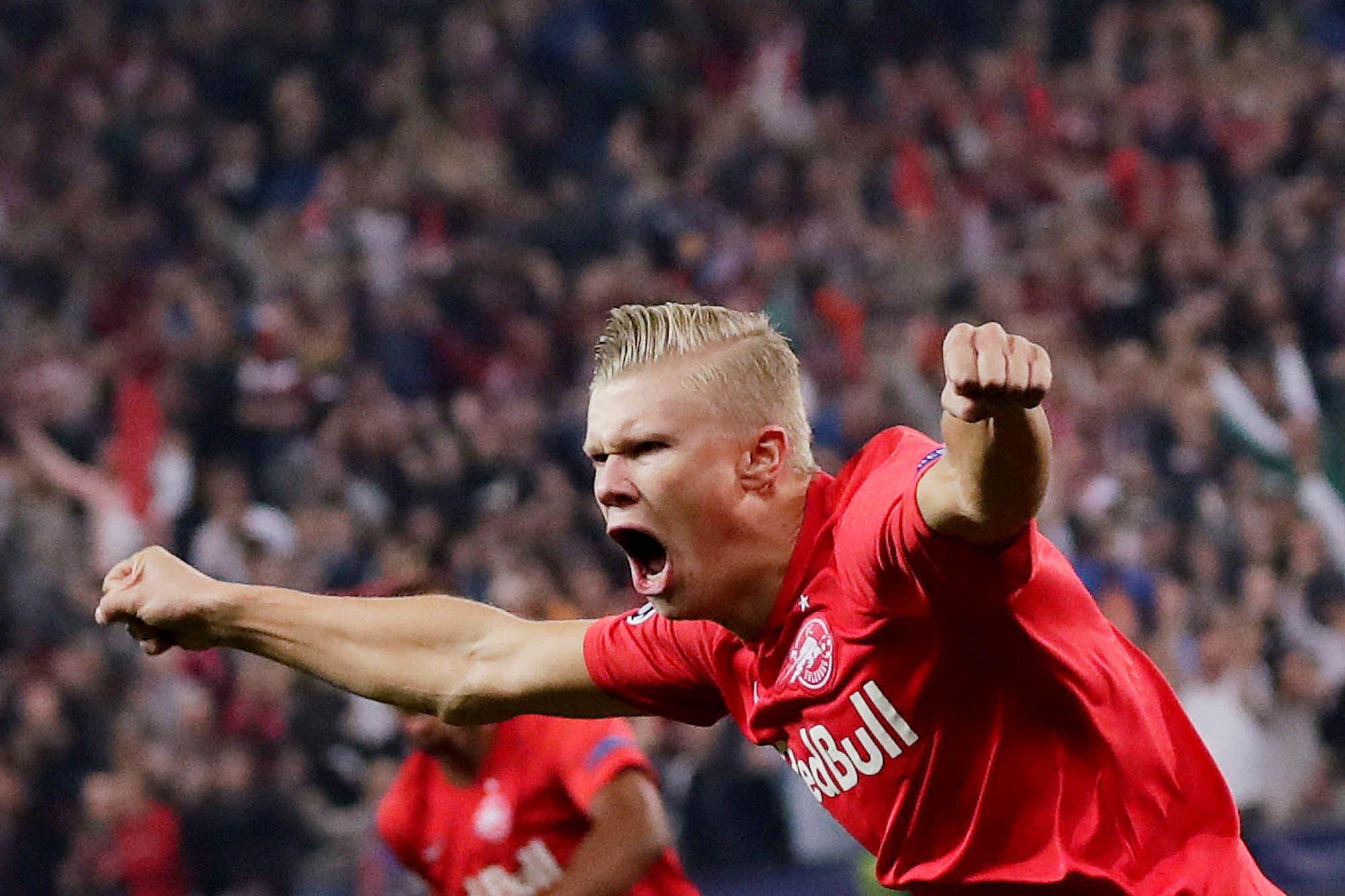 Champions League. Erling Haaland, el jugador del día: el chico que anotó tres goles en 44 minutos