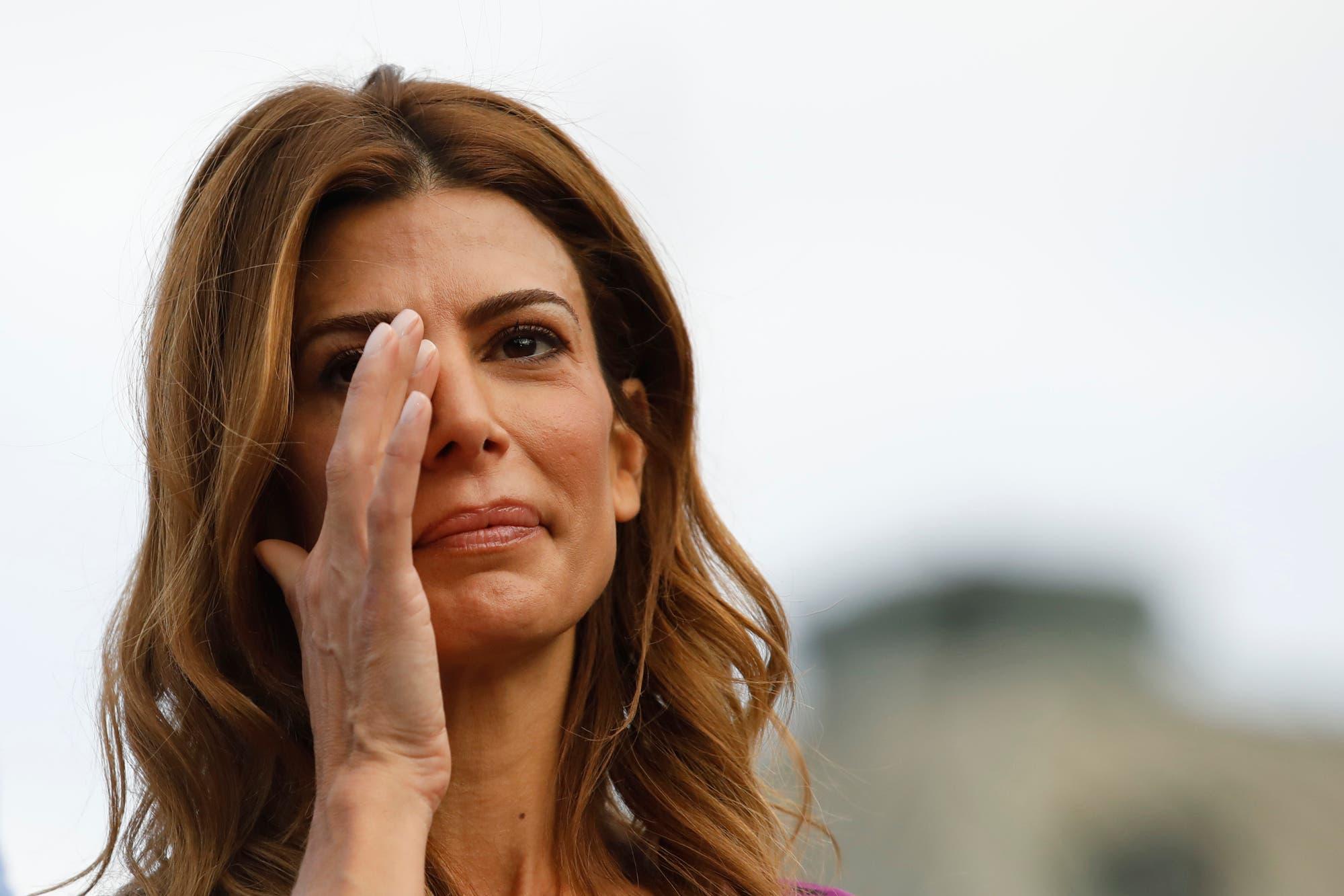 La emoción de Juliana Awada en el acto de despedida de Mauricio Macri en Plaza de Mayo
