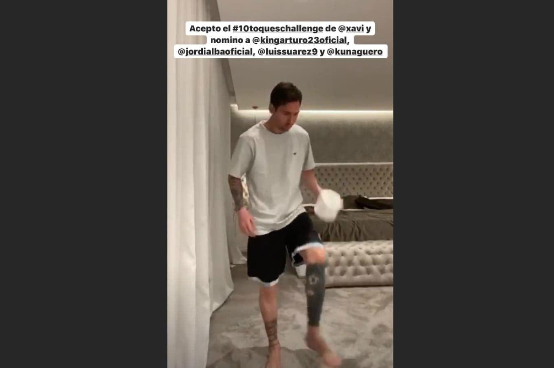 Desafío en redes: cómo le fue a Lionel Messi en el #10toqueschallenge