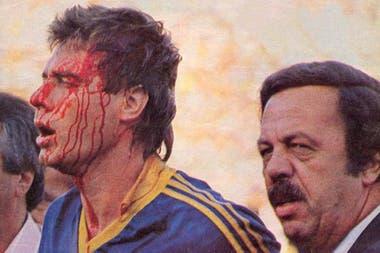 Claudio Marangoni, víctima de una agresión de los hinchas de San Martín de Tucumán
