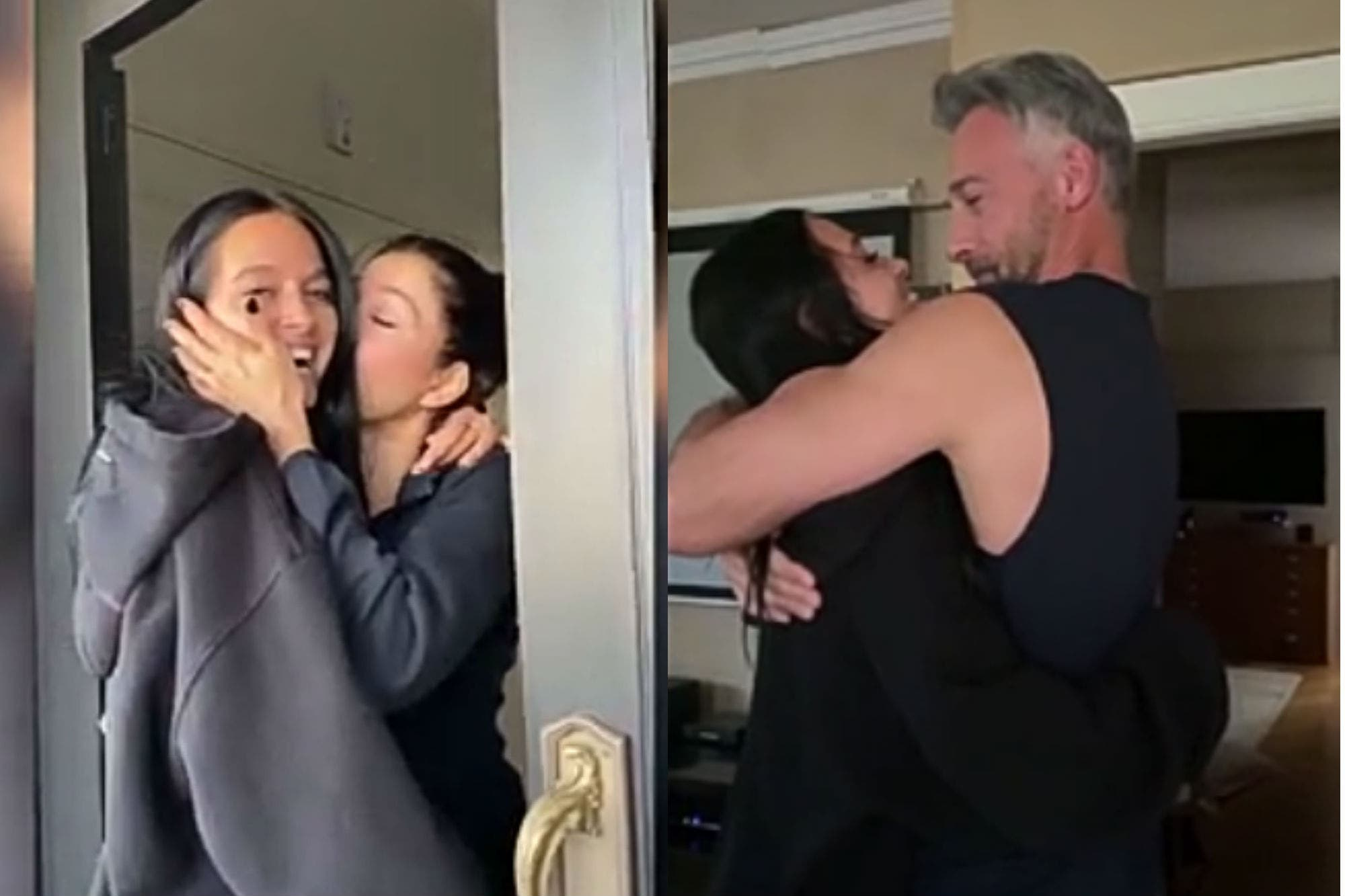 Oriana Sabatini hizo llorar a su familia con su sorpresivo regreso a la Argentina