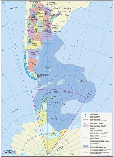 El nuevo mapa oficial de Argentina.