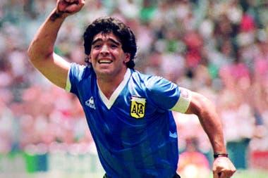 Maradona, el día que fue a México para el Mundial de 1986.