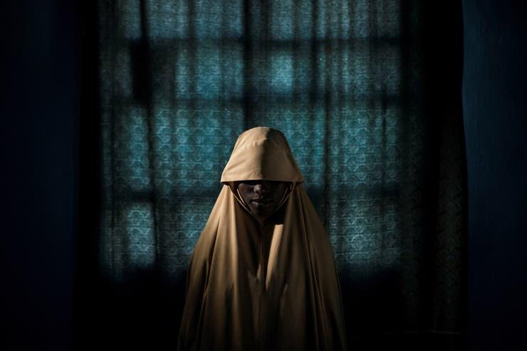 21 de septiembre de 2017. Retrato de Aisha (14) en Maiduguri, Nigeria. Tras ser secuestrada por Boko Haram, logró escapar y encontrar ayuda.