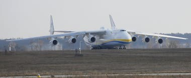 El Antonov An-225 es el avión de carga más grande y pesado del mundo.