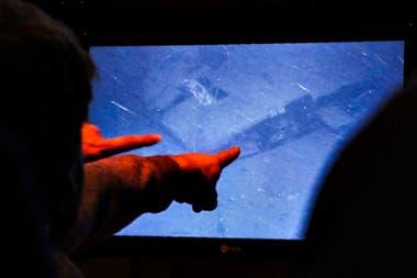 El momento del hallazgo del submarino en la noche del 16 de noviembre pasado