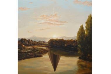 El reflejo del amanecer, pintura de Max Gómez Canle (2013)