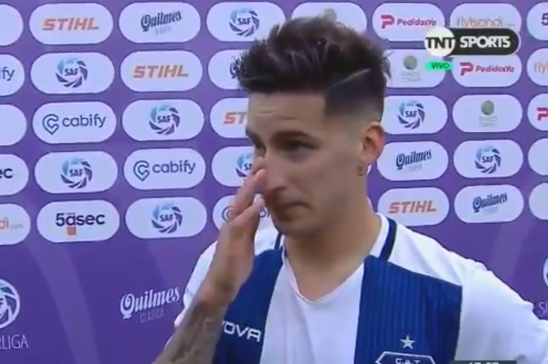 La emoción de la figura de Talleres: Menéndez se quebró al dedicarle el gol a su abuela