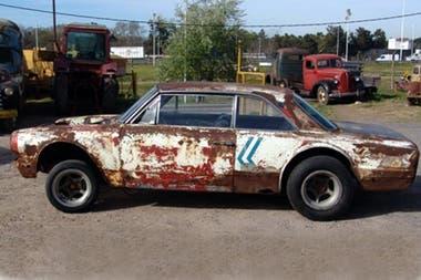 El Bananita, como lo llamaron al Torino N°1, después del accidente en las pruebas en Núrburgring, fue recuperado en Moreno
