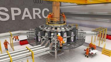 El Sparc planea ser el primer experimento nuclear que produzca más energía que la que consume. Imagen: Ken Fila/MIT