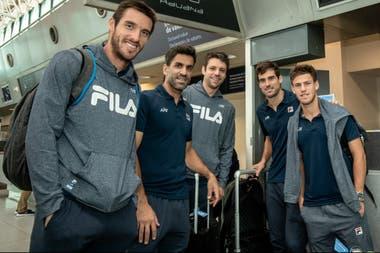 Mayer, González, Zeballos, Pella y Schwartzman, el quinteto argentino en la Copa Davis