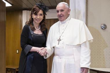 El Papa recibió a la ex presidenta en 2015