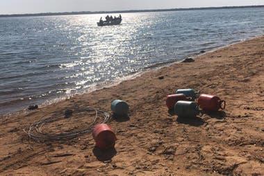 El barco fue hallado en costa de la localidad correntina de Ita Ibaté