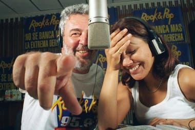 Lalo Mir y Elizabeth Vernaci en la Rock and Pop
