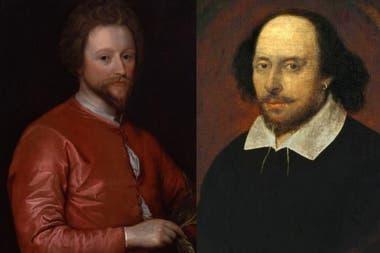 John Fletcher (izquierda) y William Shakespeare (derecha) escribieron Los dos nobles caballeros alrededor de 1613 o 1614