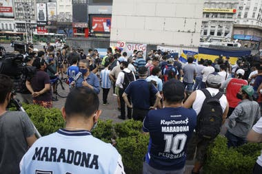 La emotiva despedida en el Obelisco tras la muerte de Maradona