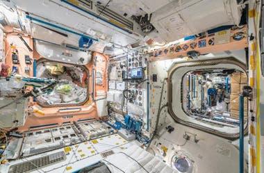 L'une des zones de l'ISS où les astronautes effectuent leurs tests de