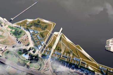 La vista area de Costa Salguero donde se realizar el desarrollo urbanstico