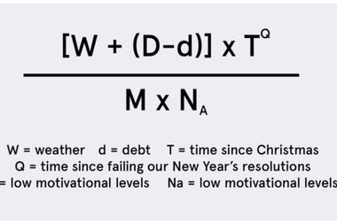 Está basado en una fórmula pseudomatemática sin base científica creada en el año 2005 por el profesor de la Universidad de Cardiff, Cliff Arnal