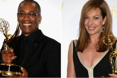 Joe Morton y Allison Janney, felices con sus Emmy