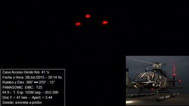 Uno de los casos del informe de CEFAE, en donde el fotógrafo confundió una nave con un helicóptero