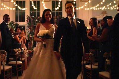 Meghan Markle, en una escena del final de temporada de Suits, que también es la despedida de su personaje y del de su esposo en la ficción