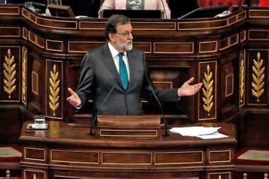 Las palabras de Rajoy antes de la votación